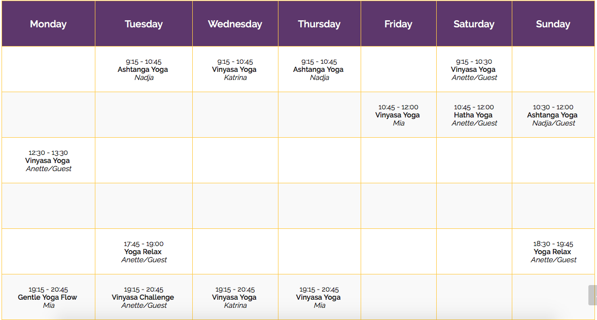 Sunshine Yoga Monte Carlo New Sunshine Yoga Schedule For August